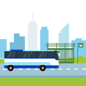 dibujo autobus ilustración